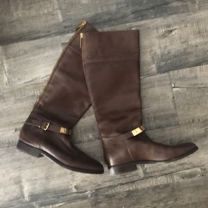 Michael Kors Brown Leather Riding Style 👢 Boots 8
